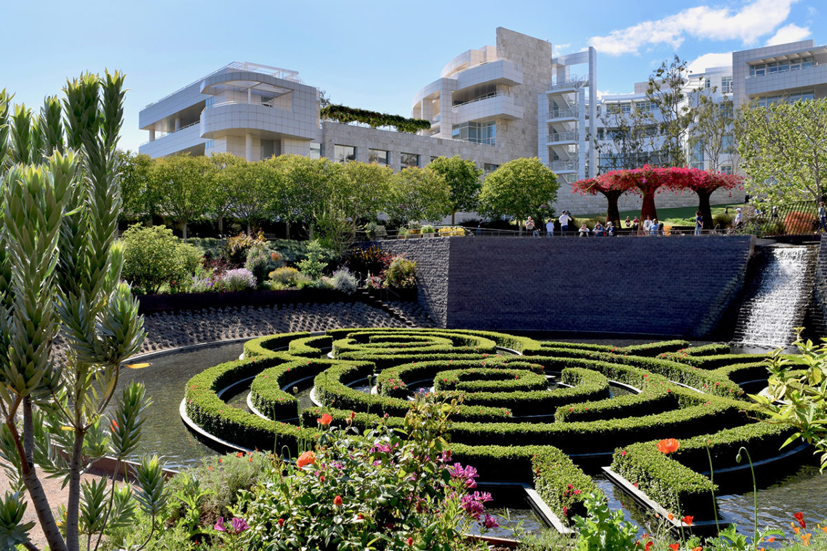 Robert Irwin's Central Garden at The Getty Center in Los Angeles, California