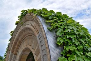 limestone arch at the Bishop's Garden, Washington National Cathedral in Washington, DC