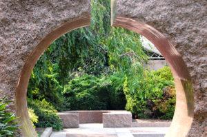 The Moongate Garden in The Enid A. Haupt Garden in Washington, D.C.