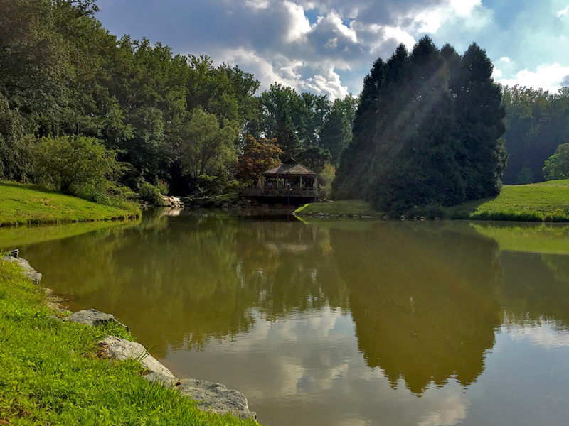 lake at Brookside Gardens in Silver Spring, Maryland