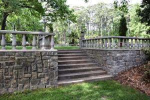 Renaissance Court gardens at Norfolk Botanical Garden in Norfolk, Virginia