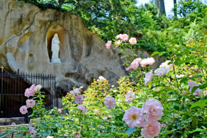 Mary statue in the grotto of the Franciscan Monastery in Washington, D.C.