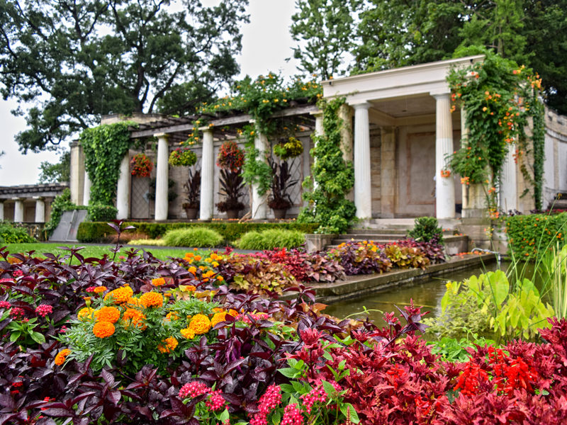 loggia and gardens at Untermyer Park & Gardens Yonkers, New York