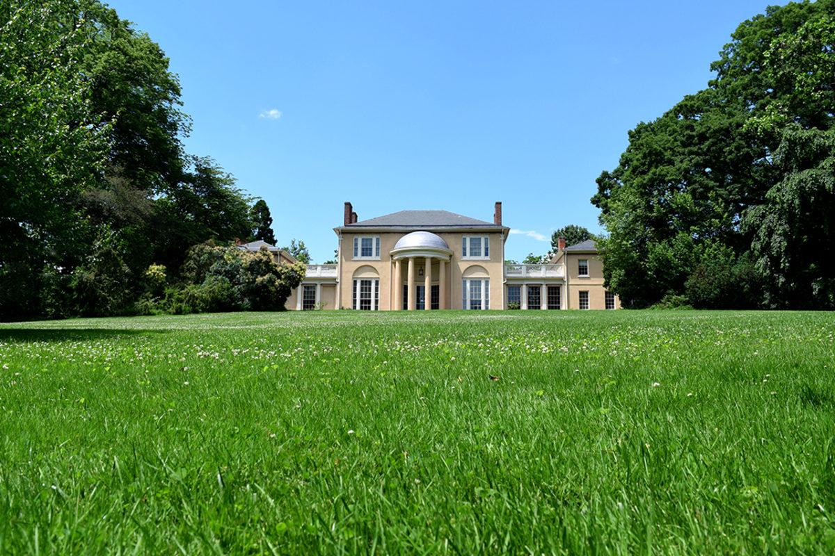 front lawn of Tudor PlaceHistoric House & Garden in Washington, DC