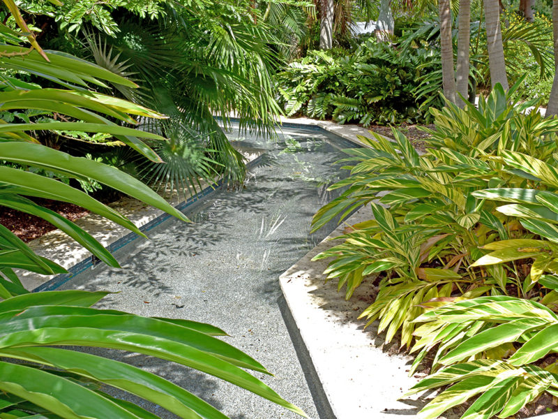 waterway at Florida Botanical Gardens in Largo, Florida