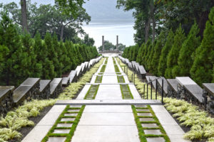 The Vista staircase overlooking the Hudson River at Untermyer Park & Gardens Yonkers, New York