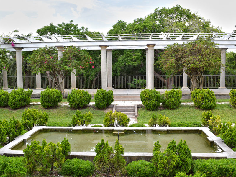The Sunken Garden & Pergola at Historic Spanish Point in Osprey, Florida