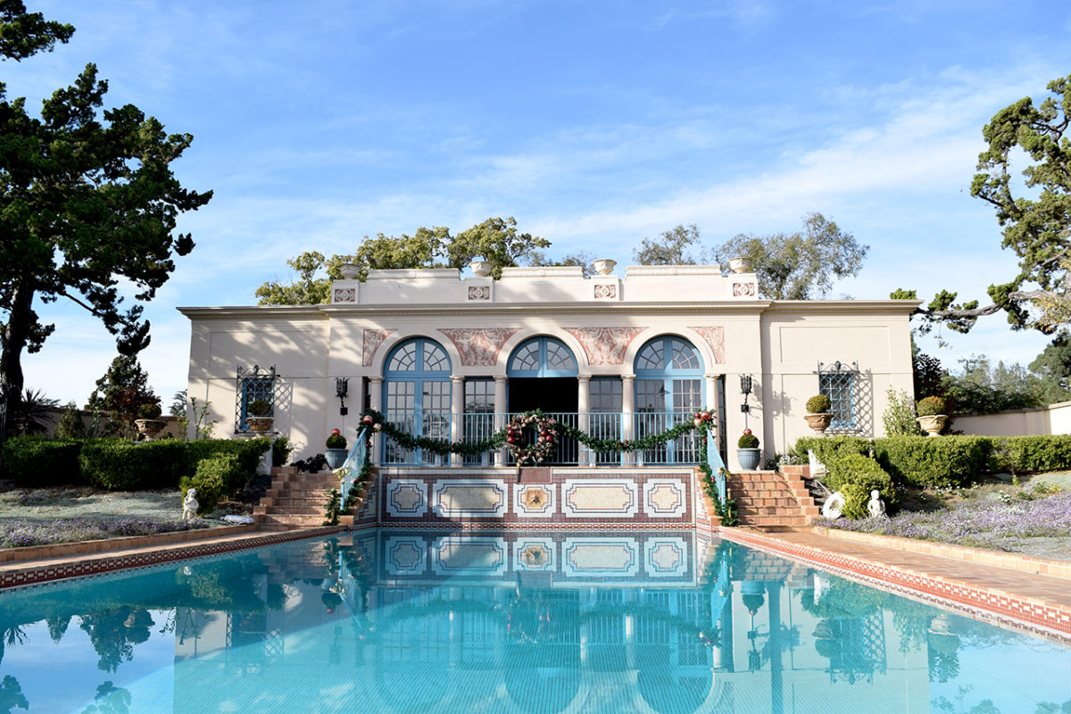 pool house at Virginia Robinson Gardens in Beverly Hills, California