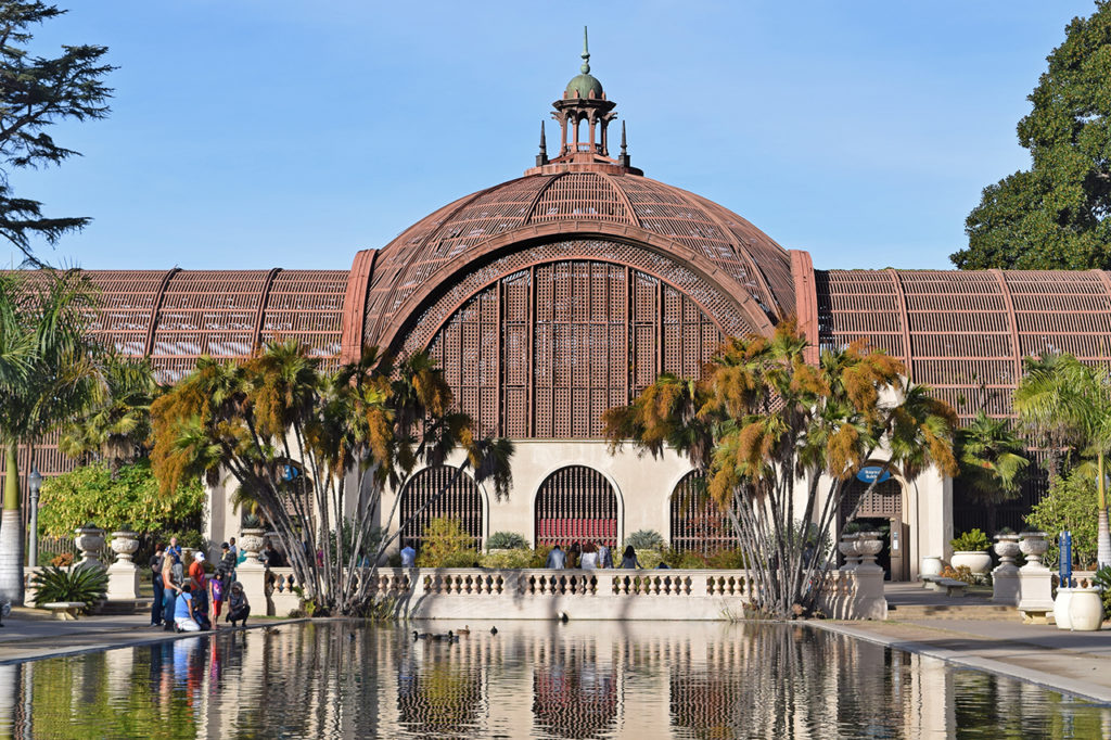 The Botanical Building in Balboa Park in San Diego, California