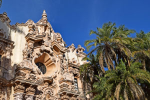 Spanish-Renaissance architecture in Balboa Park in San Diego, California